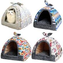 Кровать для маленьких собак, коврик для кошек, домик для питомцев, утолщенное одеяло для питомцев, щенков, бульдогов, кровать, матрас, фланелевая ткань, зимняя теплая палатка для животных