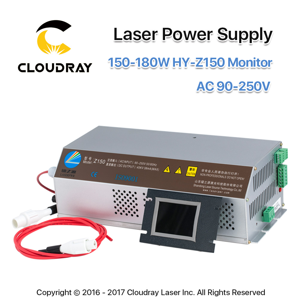 Cloudray 150-180W CO2 Laser Power Supply Monitor AC90-250V Z150 For CO2 Laser Engraving Cutting Machine HY-Z150 Z Series