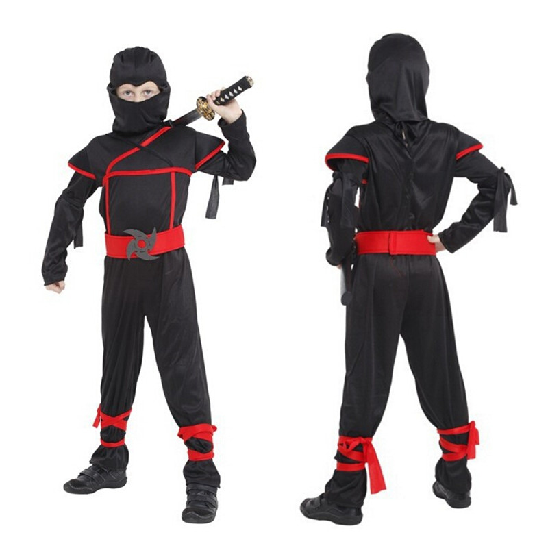 Birthday Gifts Ninja Costumes Boys Kids Festival Halloween Ninja Cosplay Movie Costumes For Kids Children Fancy Party No Weapons