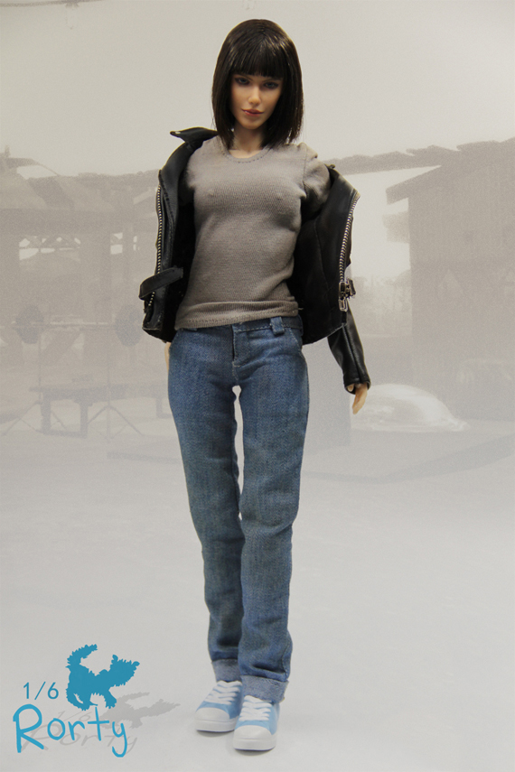1/6 Atom Cats Rorty Female Action Figure Model Figures With Jacket Jeans Set Collections 1