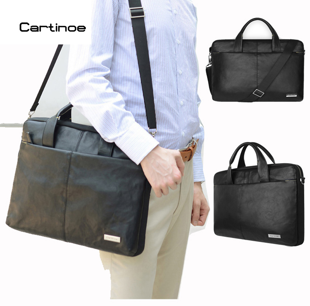 Cartinoe PU Leather Business Laptop Bag 15.6 inch Laptop Sleeve case for Macbook Air 15 Pro 15 Retina Bag Men Handbag Briefcase hot pu leather sleeve case for macbook air 11 air 13 retina 13 3 inch pro 15 4 envelope bag wholesales free drop shipping
