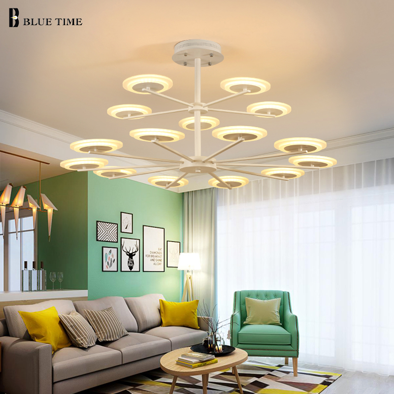 New Creative Modern Acrylic Led Ceiling light For Living Room Foyer Dining Room 6/8/10/15heads Indoor Ceiling Lights AC85-265V .