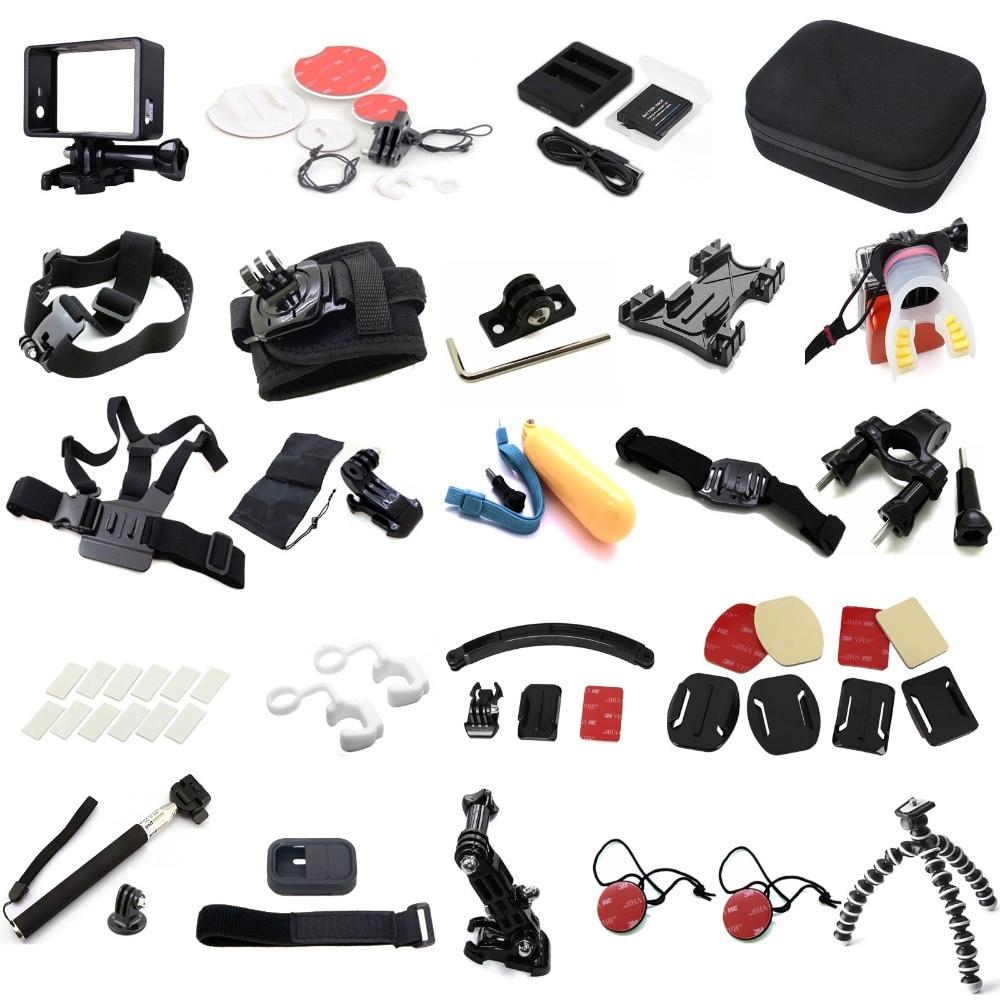Ms. L. Meilyadigit accessoires complets pour GoPro hero3 3 + hero5 4 go pro sjcam boîtier étanche poitrine trépied batterie monopode