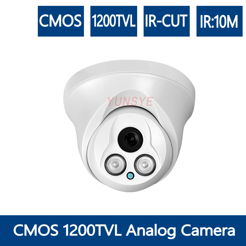 YUNSYE 1/3'' color Sony ccd 700TVL CMOS 1000TVL 1200TVL Analog Camera DOME CAMERA cctv ir dome analog hd camera aomway 700tvl hd 1 3 cmos fpv camera pal