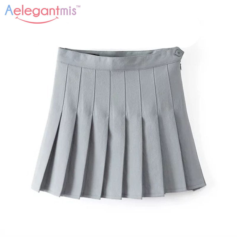 Popular Grey Pleated Mini Skirt-Buy Cheap Grey Pleated Mini Skirt ...