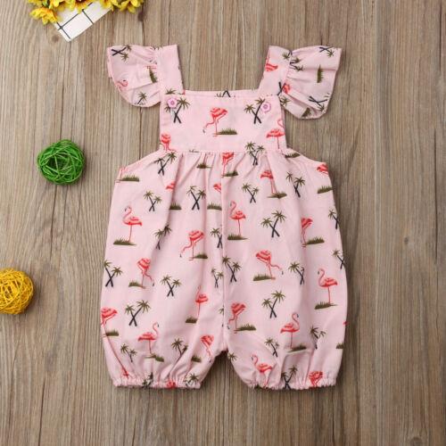 Newborn Baby Short Sleeve Organic Bodysuit Flamingo Spirit Animal-1 Infant Romper Jumpsuit
