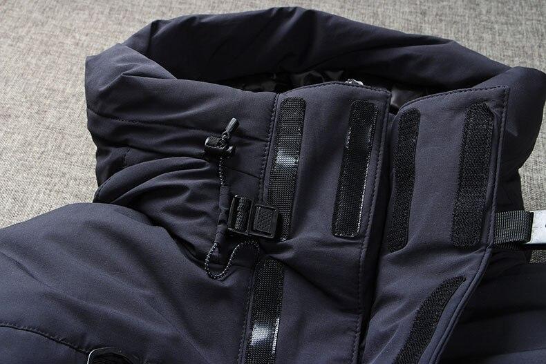 2019 2019 Winter Down Jacket Men Coat Hooded Long White Duck Down Parka Thickening Warm Outwear Wellensteyn Men Winter Jacket From Suspender, $158.26
