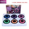 Nuevo pelo de moda color de pelo tiza set maquillaje temporal del pelo de la tiza del pelo 6 colores envío gratis 6 unids/set MS0140
