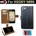 Couro PU Caso Tampa Articulada Para XGODY N890 estilo Saco Do Telefone com Suporte de Cartão Frete Grátis XXL
