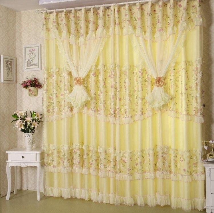 Rideaux pour Salon Salle À Manger Chambre Nouveau Style Européen Rideau Fleur Fil Jacquard Tissu Produit Personnalisation Fenêtre