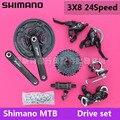 SHIMANO Tourney MTB mountainbike shift kit kurbelwelle kettenrad 3X8 24 geschwindigkeit fahrrad zubehör schaltwerk kit Fahrrad teile