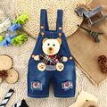 9M-3T Baby Boys Summer Jeans Overalls 3D Bear Infant Toddlers Kids Denim Shorts  Rompers Jumpsuit  For Children Clothing