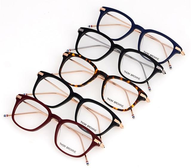 dc365dfb546 2017 Fashion New York Brand Eyewear Frames Women Men Thom Browne  Prescription Eyewear TB704 Optical Glasses