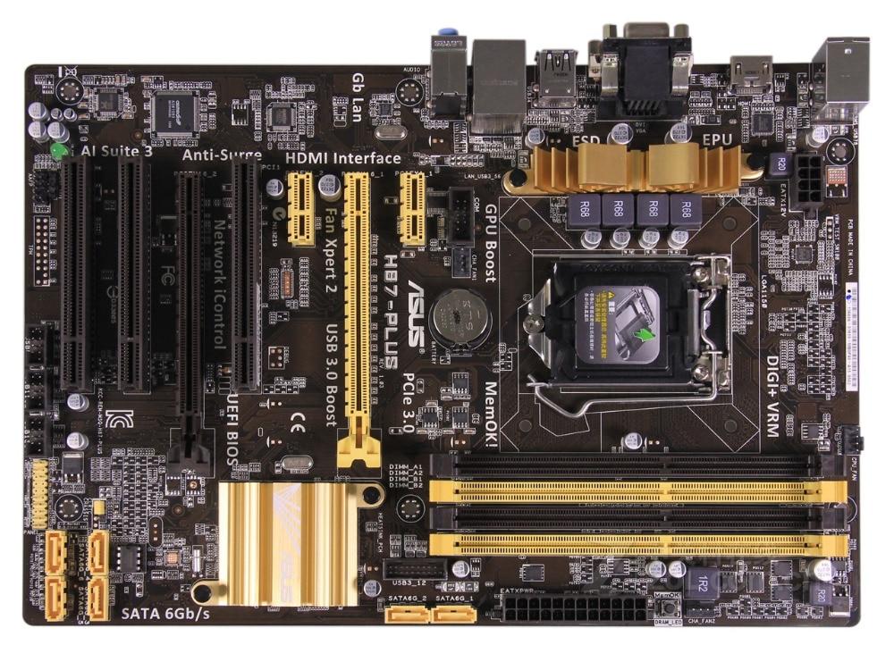 original motherboard ASUS H87-PLUS LGA 1150 DDR3 USB3,0 SATA3 PCI-E 3.0 free shipping h87 plus 1150 pin motherboard large board support 4790k