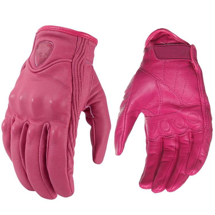 new Edision arrival! Leather pink gloves ladies riding MOTO GP anti-fall imported sheepskin gloves new edision arrival leather pink gloves ladies riding moto gp anti fall imported sheepskin gloves