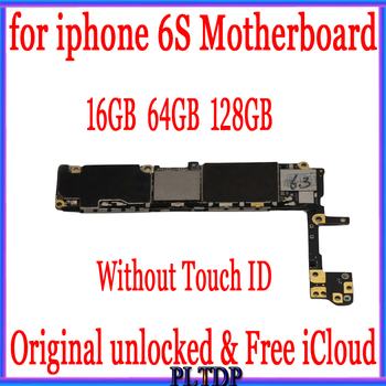 Factory Unlocked  for iphone 6S Motherboard with/without Touch ID,100%Original for iphone 6s Logic board 16gb 64gb 128gb