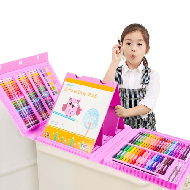 172Pcs Sketching Drawing Art Painting Set for Children Kids Water Color Pen Oil Pastels Crayons Art