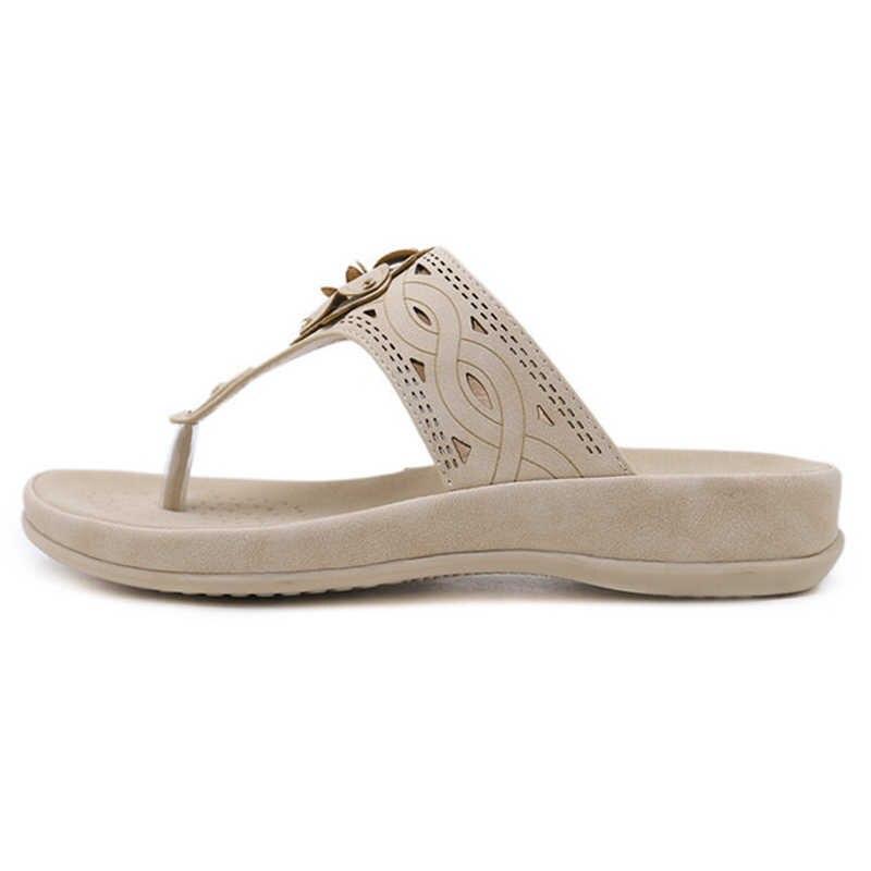 SNURULANPlus Boy Kadın Ayakkabı 2018 Yeni Yaz Kadın Yumuşak Sandalet Bayan Rahat Daireler Terlik Kadın Flip Flop Plaj SandalsE635