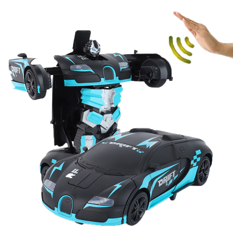 Image 4 - New Toys 2019 1/12 Radio Control Cars With Light And Music  Frosted Style Gesture Sensor rc Car Transformation Robot Car-in RC Cars from Toys & Hobbies