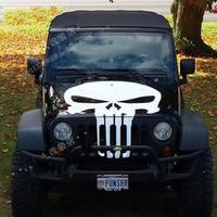 For Jeep Wrangler Renegade Car hood sticker skull sticker