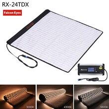 Falconeyes rx-24tdx квадратный rollable ткань LED заполнить свет лампы Studio Видео Освещение Панель 150 Вт Би-Цвет 3000 К-5600 К cri95