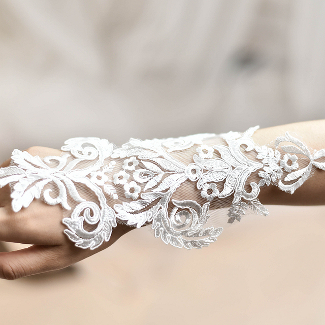 Wedding dress handmade diy flower embroidery material lace wedding dress handmade diy flower embroidery material lace decoration accessories gloves decoration applique jeans patch white junglespirit Gallery