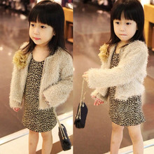 MUQGEW Fashion Dress Toddler Baby Girl kid Leopard Long Sleeve Princess Party Dresses Leopard Long Sleeve Autumn Winter dress