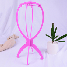 1PC Portable Folding Stable Wig Stand Wig Stand Plastic Wig Holders Display Tool Black/Blue/White/Pink