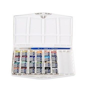 WINSOR & NEWTON Cotman aquarela sólida portátil pintura 12/24/36/45 cores pigmento material de arte de desenho pintura