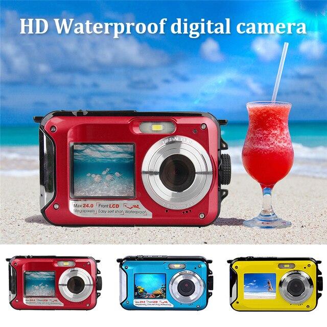 Cewaal 2.7 inch Digital Camera Waterproof Camcorder 24MP 16X Zoom FHD 1080P Anti-shake CMOS Digital Camera Travel Durable