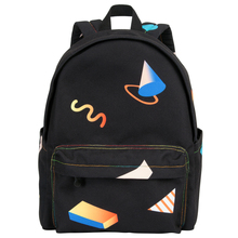 YIZISTORE Macaroon colored school backpacks for boys and girls in GEOMETRY series(FUN KIK) suitable for 15inch laptops
