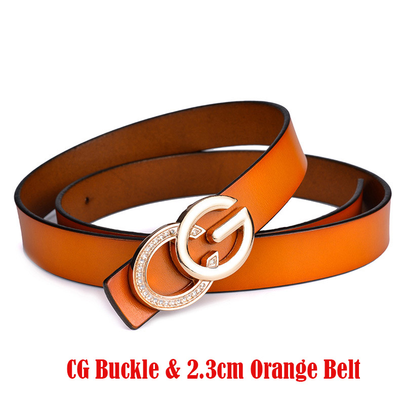 845d57ac1 Detail Feedback Questions about Luxury Design Stylish CG Belts For Women  Lady Genuine Leather Fashion Brand G Belt Diamond Alloy Gold Buckle Punk  Ins Vogue ...