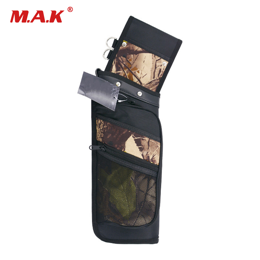 New 4 Color Recurve Bow Reverse Arrow Quiver Hold Arrow Single Shoulder Quiver Bag for Archery Hunting Shooting