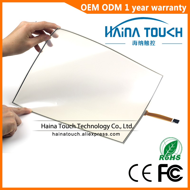 Win10 Compatible Flexible 15 Inch 4 Wire Pellicle Resistive USB Touch Screen Panel For photobooth photo