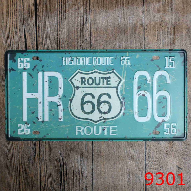 LOSICOE Vintage license plate HR 66 Metal signs home decor Office Restaurant Bar Metal Painting art 15x30 CM
