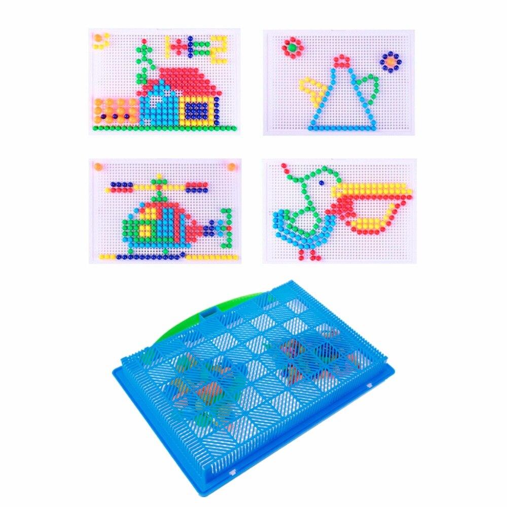 ГБД дети гриб ногти паззлы головоломки Творческий мозаика pegboard
