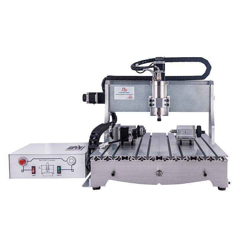 Fraiseuse 6040Z 1.5KW 4 axes CNC routeur graveur avec 1.5KW VFD broche de refroidissement à l'eau Port parallèle au Port USB