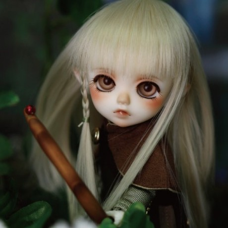 doll accessories 1/6 1/8 Bjd wig doll hair small braid characteristic single bangs long straight hair girl boy cute cool- d09