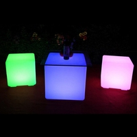 LukLoy LED Stool Colorful Decorative Remote Control Large Cubic Party Light Courtyard Bar Pool Outdoor IP65 Decoration Light
