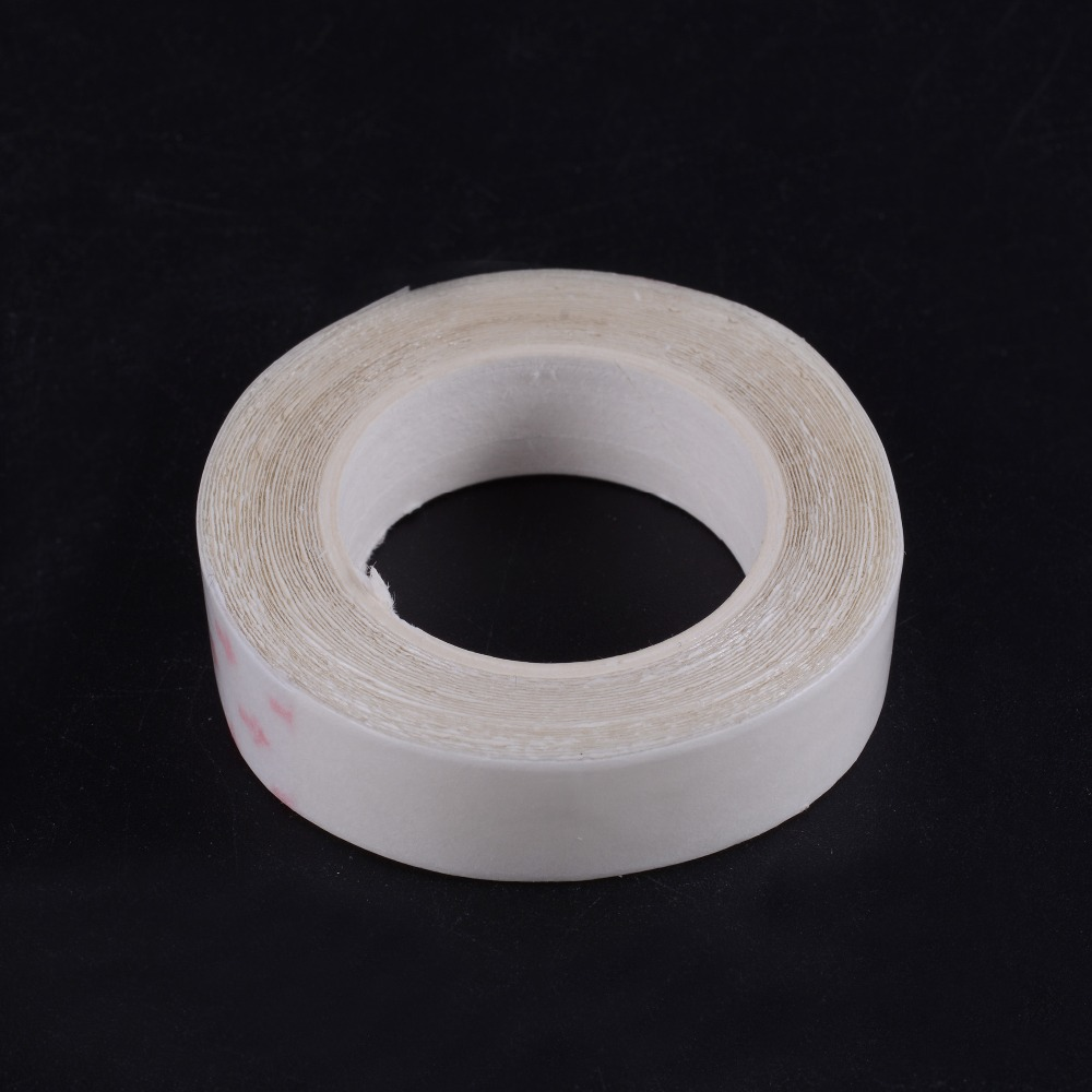 Bright New 1cmx3m White Dedicated Professional Roll Strong Adhesive Double Side Tape For Hair Extension