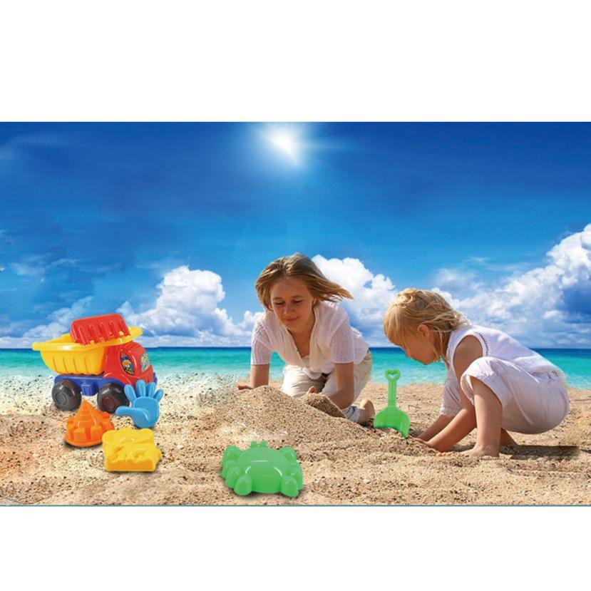7pcs Kids Sand Sandbeach ⃝ Kids Kids Beach Toys Car Bucket