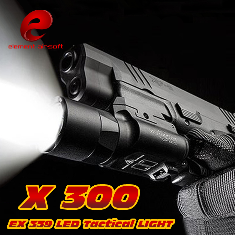 EX 359 Element Tactical X300 Ultra LED Weapon Light Pistol lanterna Airsoft Flashlight with Picatinny Rail Hunting Weapon Lights hot sale new tactical flashlight x300 ultra led weapon light for hunting for shooting cl15 0040