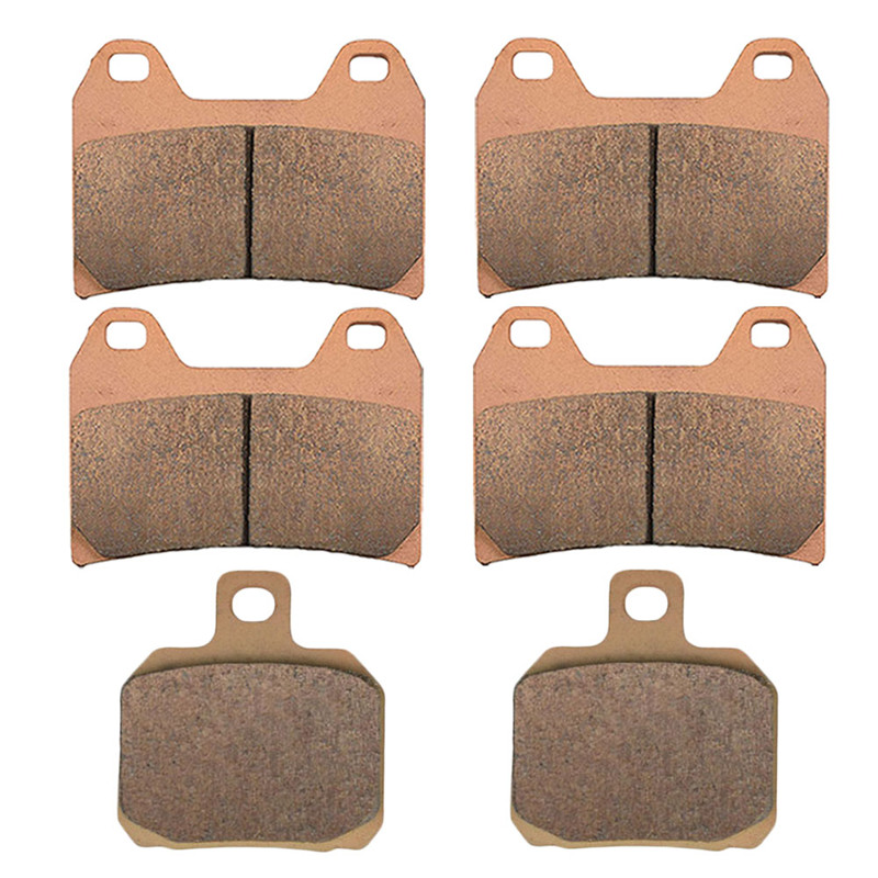 Motorcycle Parts Copper Based Sintered Motor Front & Rear Brake Pads For Aprilia RSV 1000 RSV1000 R Tuono 2002-2006 Brake Disk motorcycle parts copper based sintered brake pads for derbi gpr50 gpr 50 racing 2008 2010 front motor brake disk fa266