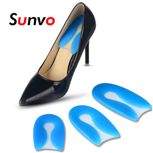 57b5851f0e Sunvo Medical U-Shaped Inserts for Plantar Fasciitis Foot Care Silicone Gel  Shock Absorption High Heel Shoes Pad Cushion Insoles