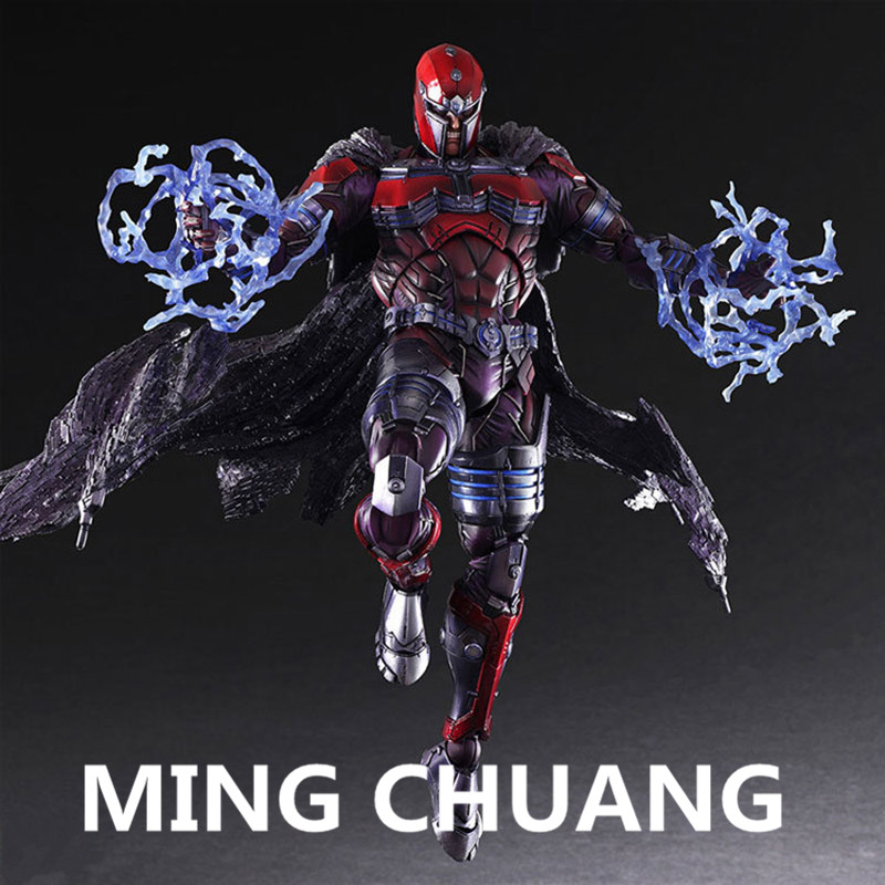 Avengers infinity war PLAY ARTS Superhero Magneto PVC Action Figure Collectible Model Toy with tetail box 26cm Q28 neca god of war 3 kratos 18 inches kratos ghost of sparta pvc action figure collectible model doll toy with box