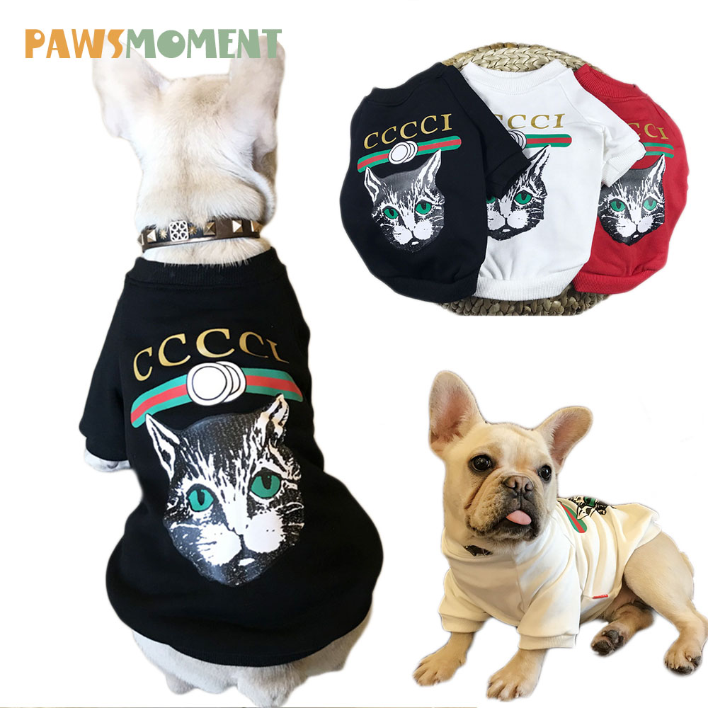 2018 Hot Clothes for Dogs for Small Dogs Chihuahua Dog Clothes Cat Pattern Coat for French Bulldog Dog Apparel for Puppy S-4XL
