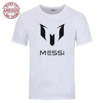 7dbc9249fb0d Jerseys Messi 2018 jersey Argentina fútbol estrella Camiseta 100% algodón  fitness camiseta ropa ...