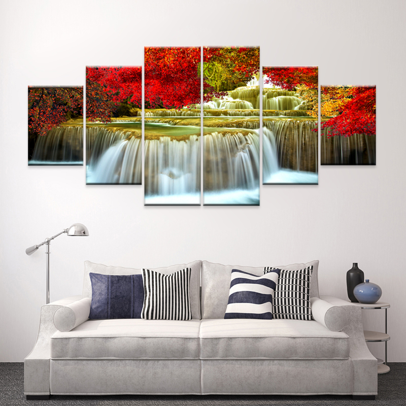 Modern picture cuadros decoracion 5 piece canvas painting wall art living room photos posters - Poster decoracion ...