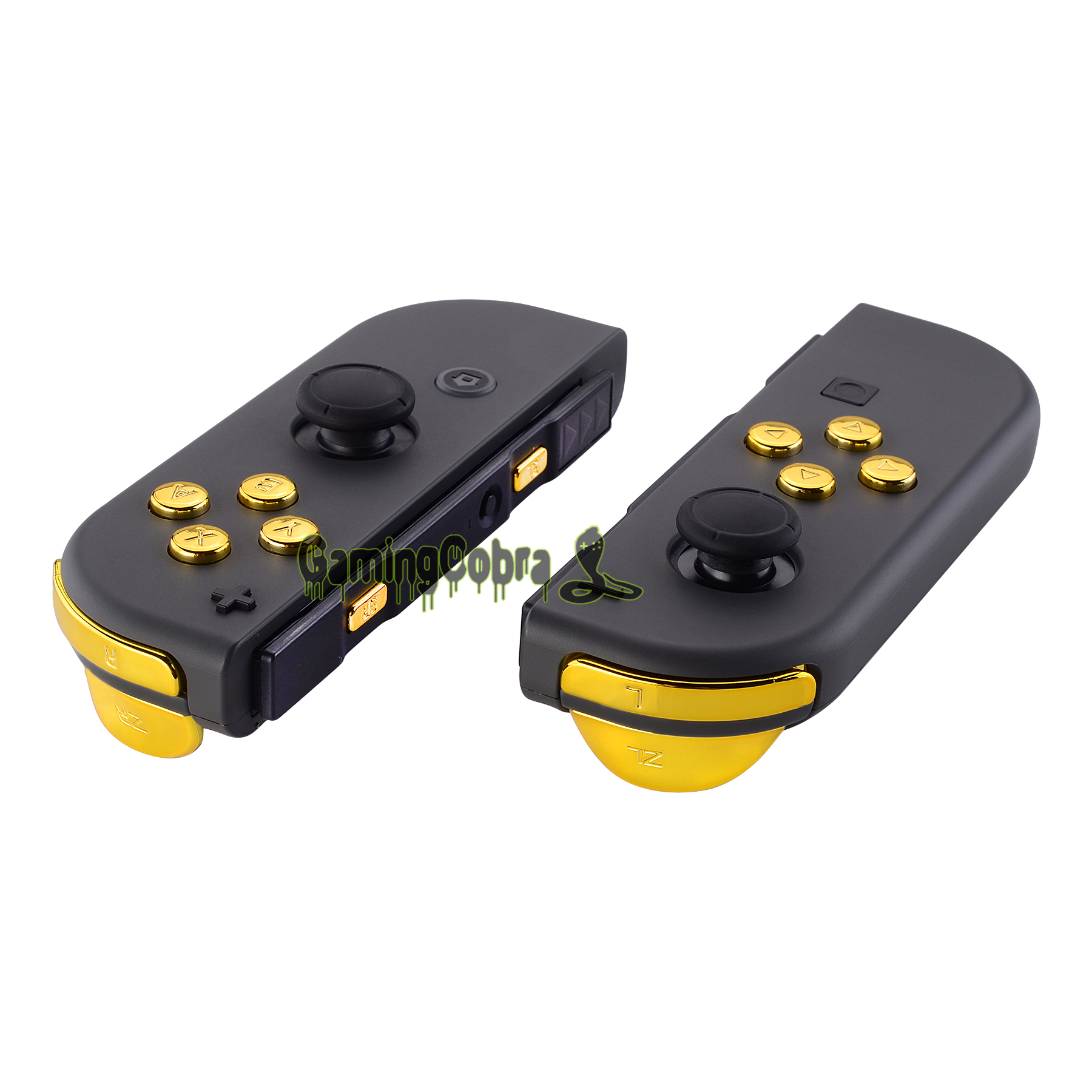 Chrome Gold Replacement ABXY Direction Keys SR SL L R ZR ZL Trigger Full Set Buttons W/ Tools For Nintendo Switch Joy-Con