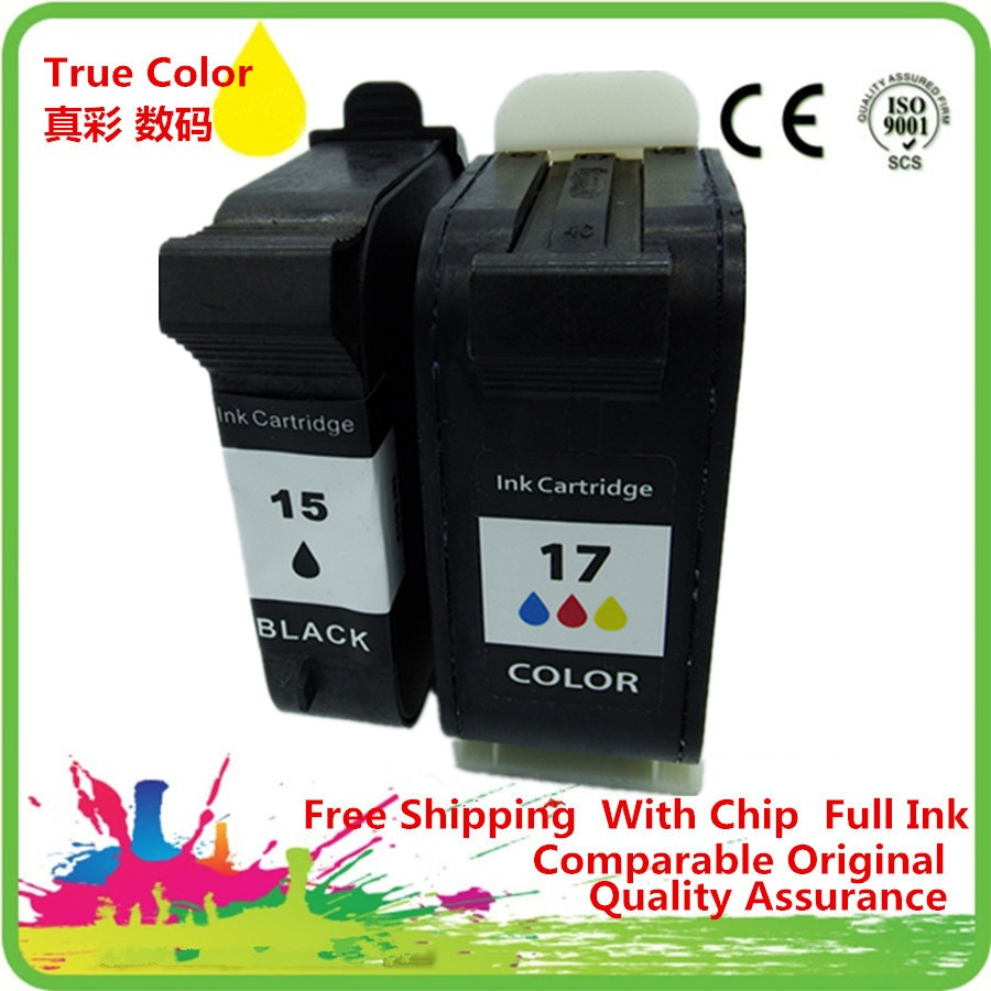 Ink Cartridges Remanufactured For 15 17 XL HP15 HP17 15XL 17XL C6615A C6625A Deskjet 816c 825c 840c 841c 842c 843c 845c
